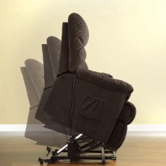 Chair Stand Power French Dining Chairs Singapore Dara Transitional Bella Fabric Assist Lift Recliner Cocoa Brown