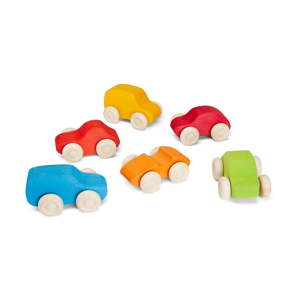 Grimm S Coloured Wooden Cars Tiny Paper Co Afterpay