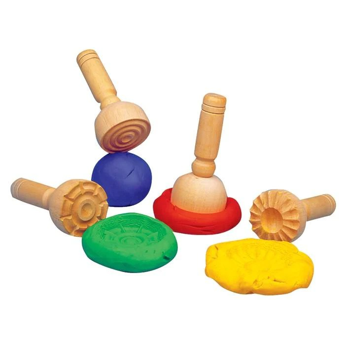 Wooden Stamp For Playdough Tiny Paper Co Afterpay Toy
