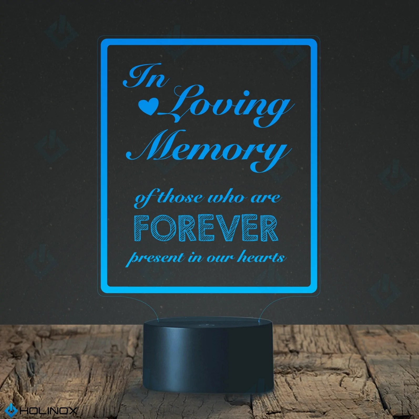medium resolution of in loving memory led lamp with usb connector calligraphy text decal holinox