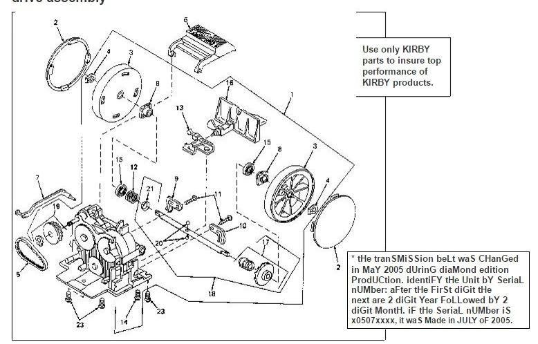 Kirby Vacuum Parts Schematic Sentria Diagram