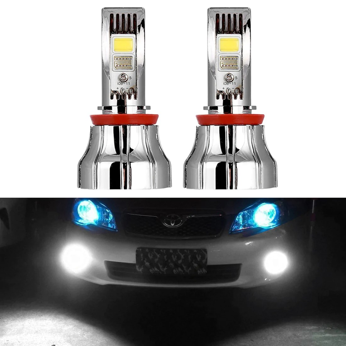 usa only 15w h8 6000k super bright led fog driving light bulb led factory mart [ 1100 x 1100 Pixel ]