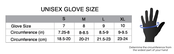 Cycling glove size chart also mystery jersey apparel for women pactimo rh