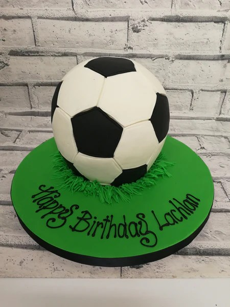 Childrens Birthday 3d Soccer Divine Cakes