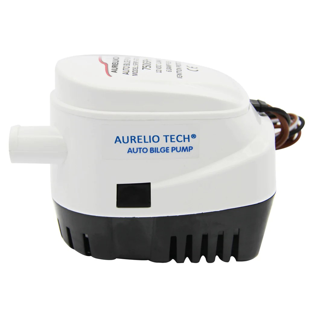 medium resolution of automatic submersible boat bilge water pump 750gph auto w float switch penson co