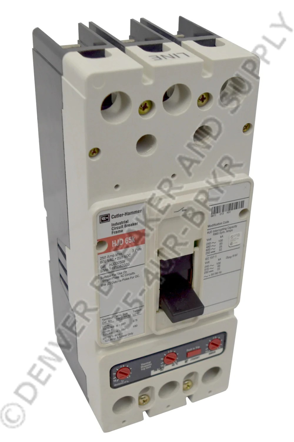 medium resolution of cutler hammer hjddc3100 circuit breaker