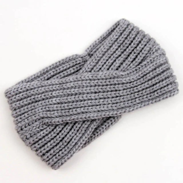 Boho Turban Winter Headband Gray Thick Soft Twist Ear Warmer One Size – Made4Walkin