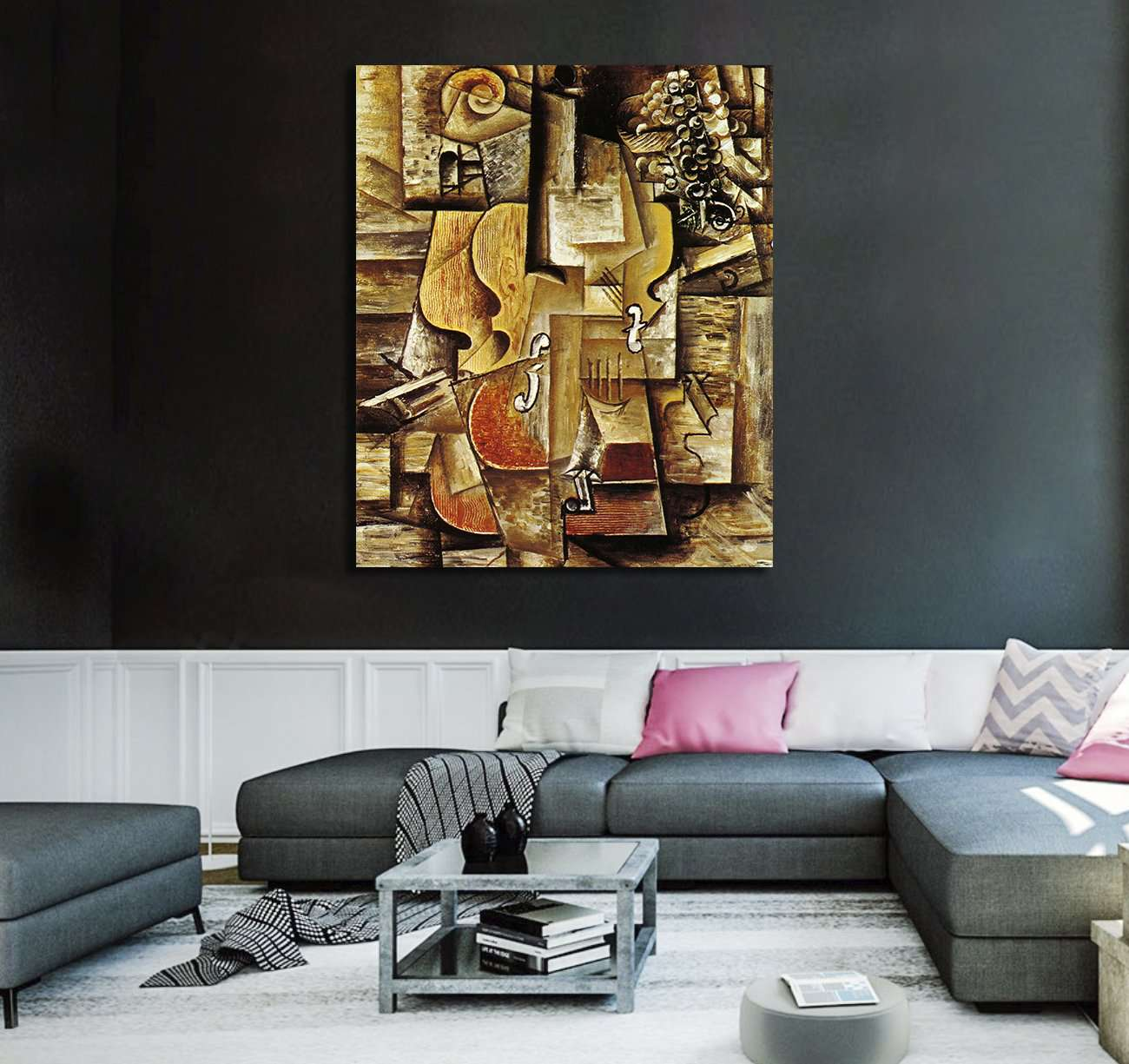 Kunst Violin And Grapes By Pablo Picassoframed Canvaswall Art Hd Print Paint Antiquitäten Kunst Drukgreen Bt