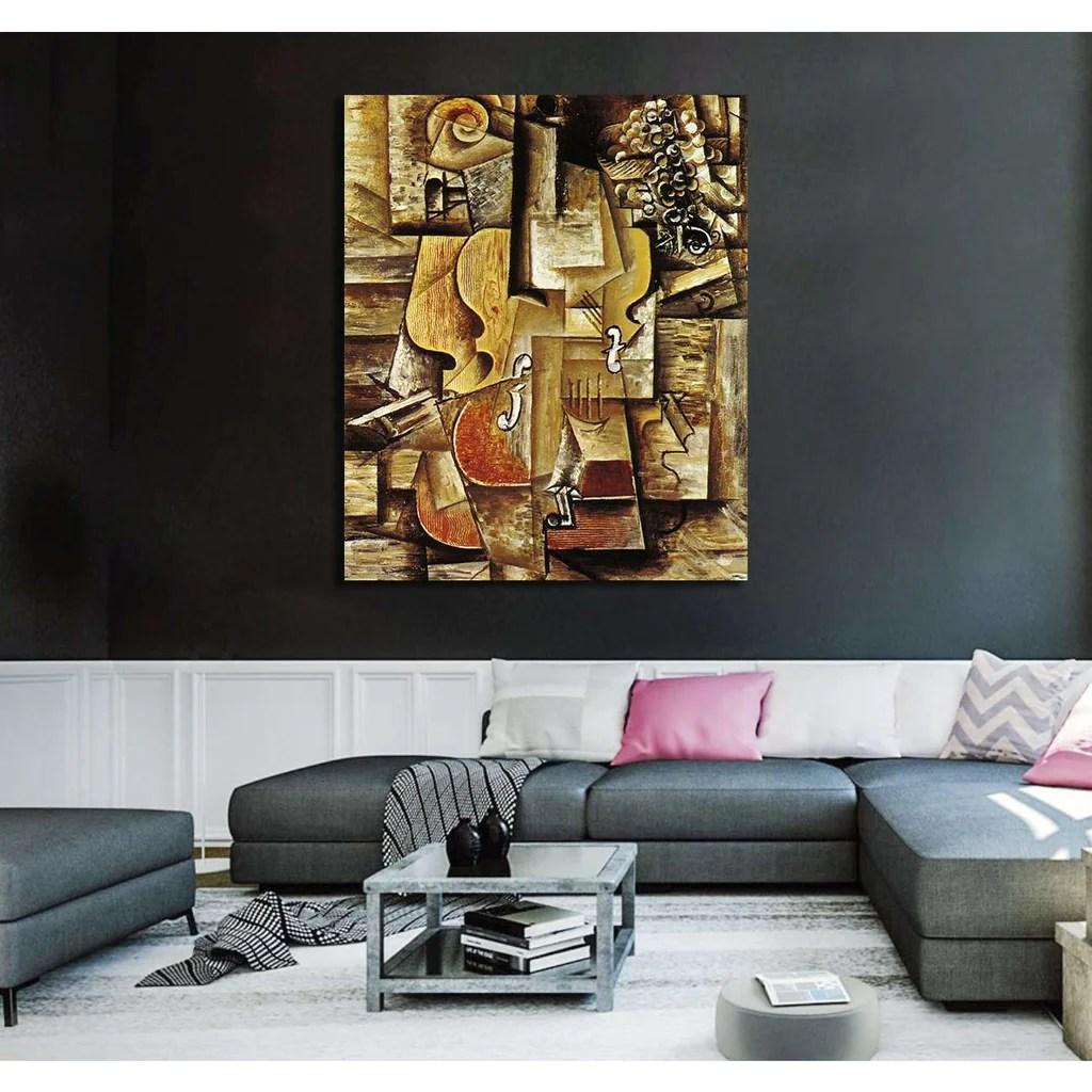 Pablo Picasso Violin And Grapes - Canvas Print Zellart