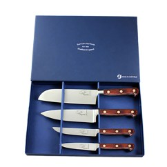 Professional Kitchen Knives Honey Oak Cabinets 4 Piece Rosewood Knife Set Darbymade
