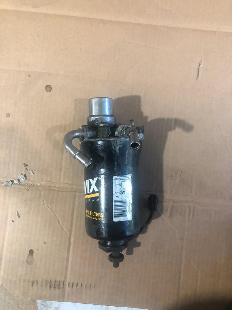 medium resolution of 01 16 duramax fuel filter head delete bypass tube race readyduramax fuel filter cap 12