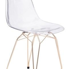 Transparent Polycarbonate Chairs Foam Chair Fold Out Bed Shadow Dining In On Gold Metal Legs Set Of 2