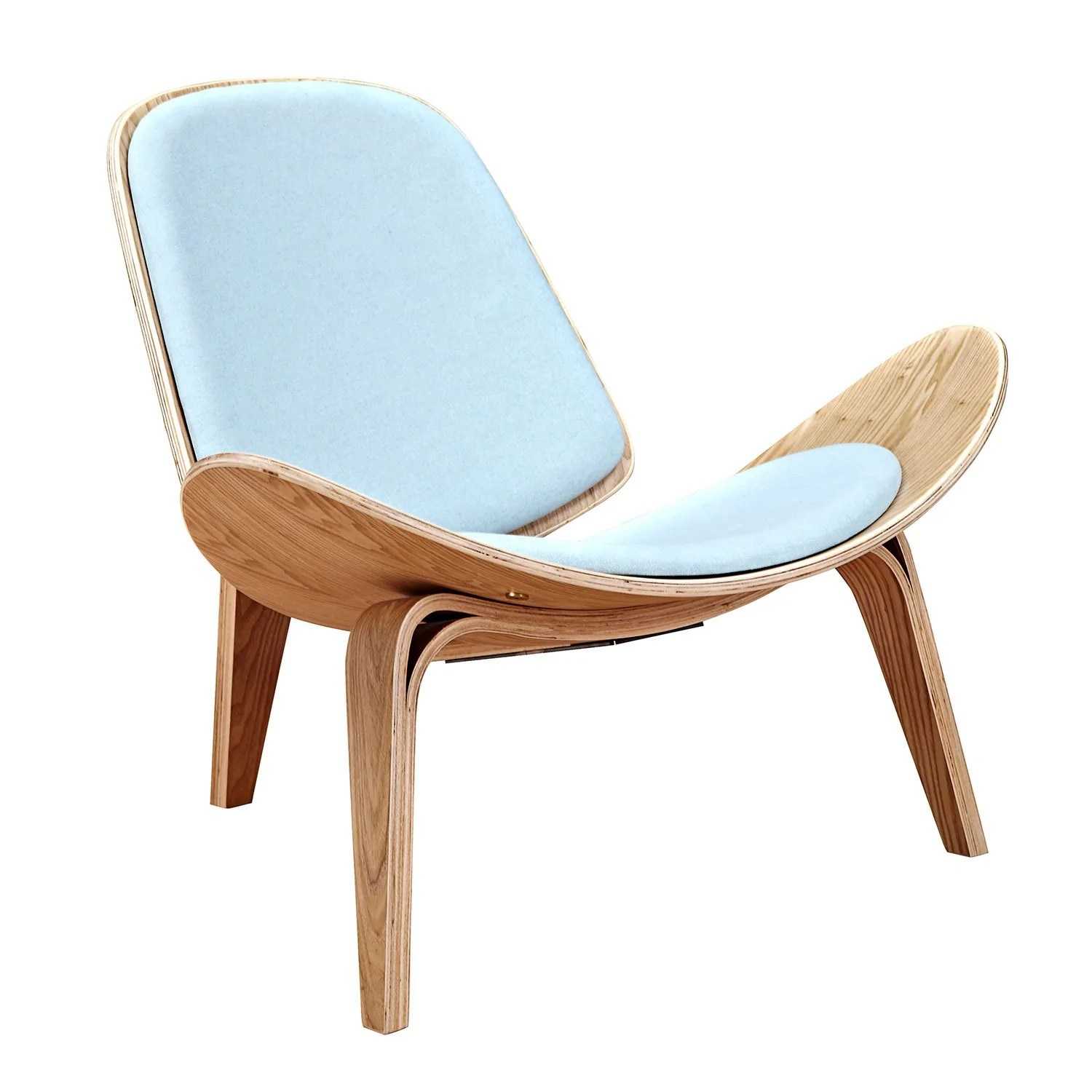 wood frame accent chairs baby bouncer shell chair with glacier blue fabric and natural finish alan