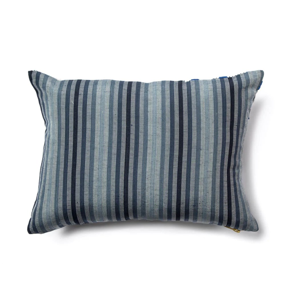 Dot Dash Pillow In Navy Blue Rebecca Atwood Design
