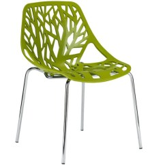 Modern Green Dining Chairs Eddie Bauer Lawn Treeform Side Chair Set Of 2 Edgemod