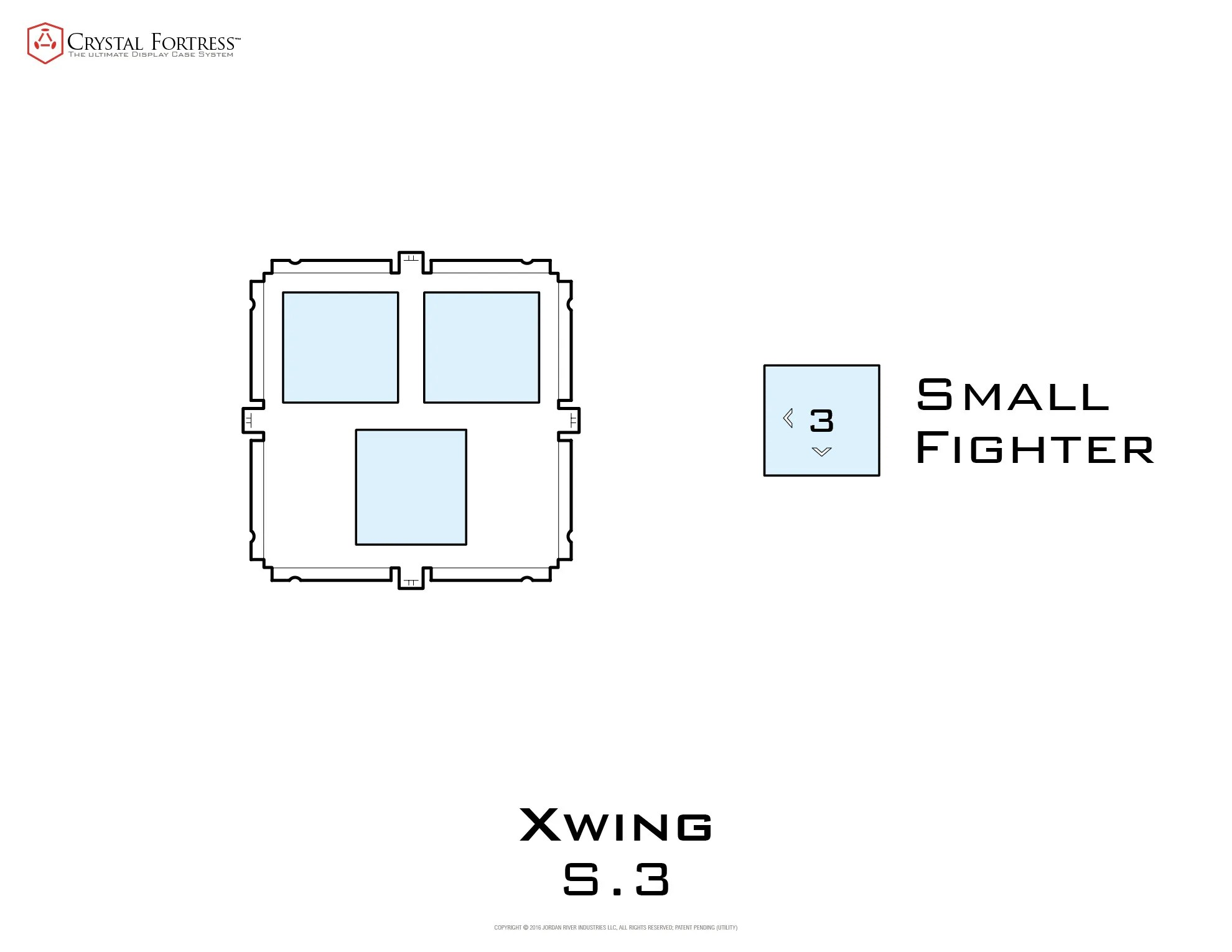 medium resolution of diagram of x wing s 3 miniatures acrylic display case base small image
