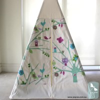 Teepee with Tree Scene Decorative Doors  Joyjoie