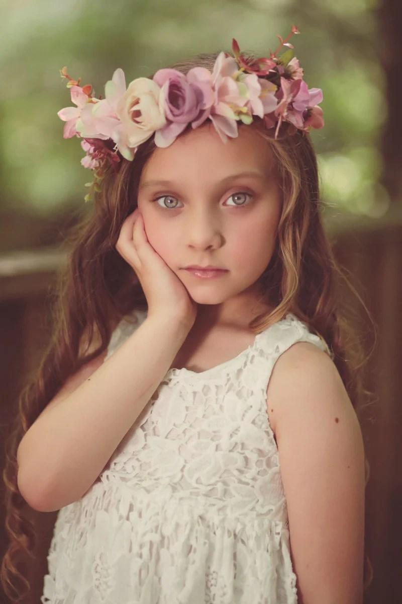 pink rose floral crown