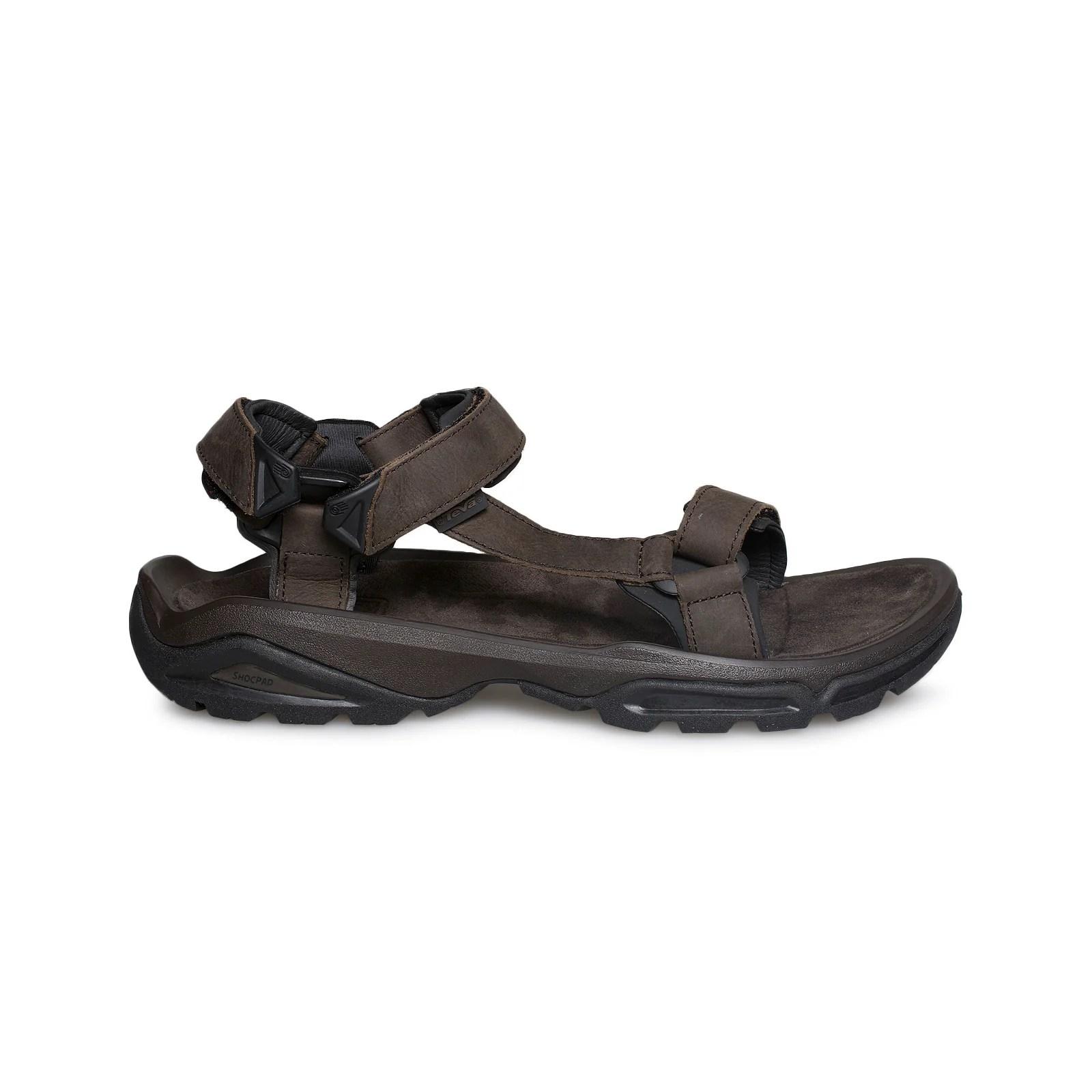Teva Terra FI 4 Leather Turkish Coffee Sandals - Men's ...
