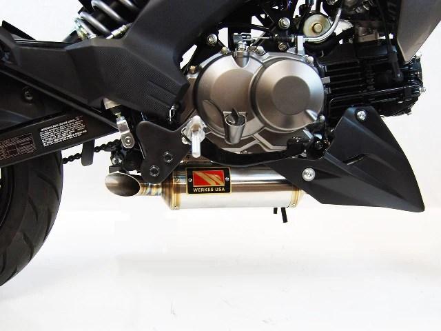 kawasaki z125 pro gp slip on exhaust by competition werkes kawasaki z125 exhaust