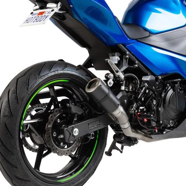 kawasaki ninja 400 mgp stinger slip on exhaust ninja 400 exhaust ninja 400 carbon fibre exhaust