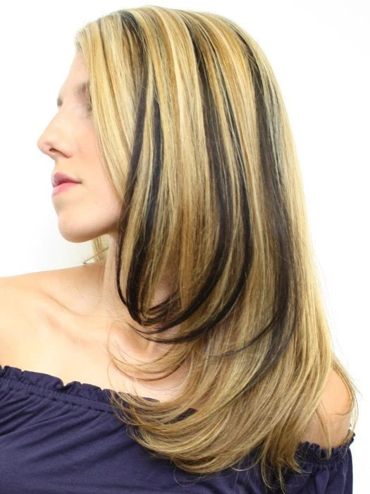 16 Human Hair Clip In Color Strips By Hairdo Hair
