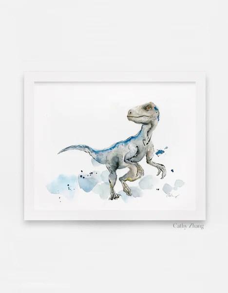 blue the velociraptor dinosaur