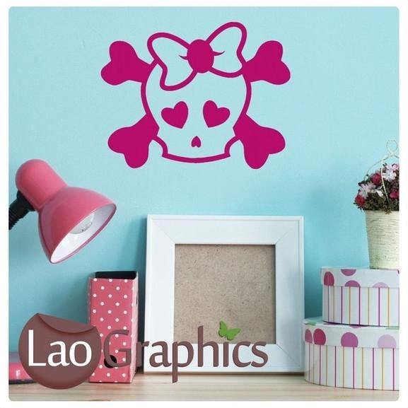Bargain Emo Skull Gothic Style Teen Wall Sticker Home Decor Art