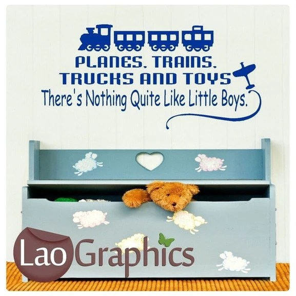 Planes Trains Trucks Quotes Boys Bedroom Quote Wall Stickers Home Deco Laographics