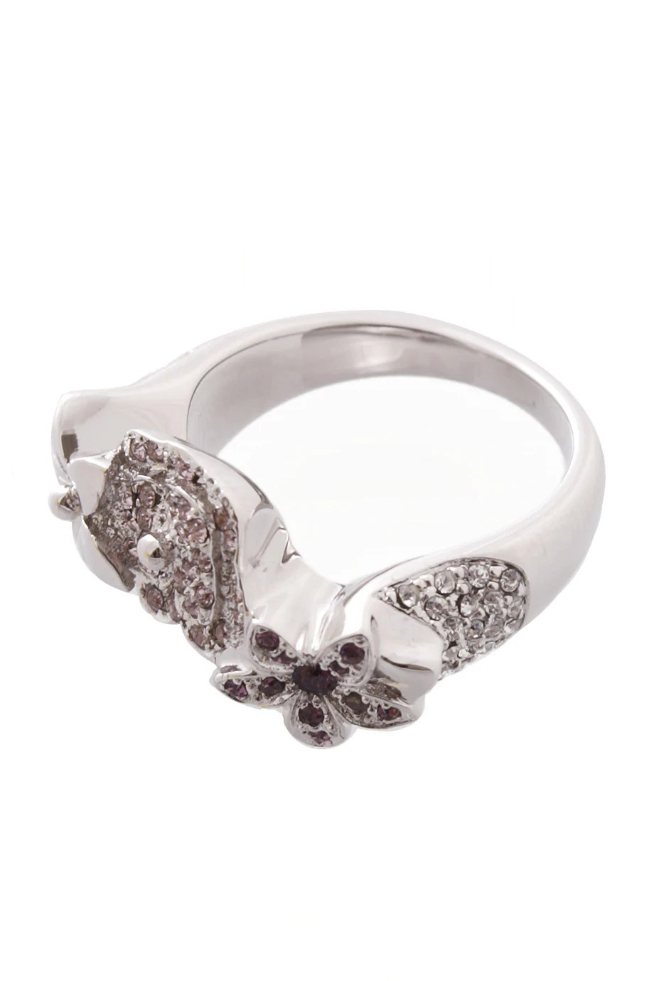 DIOR EXOTIC Silver Flower Crystal Ring – Pret-A-Beaute