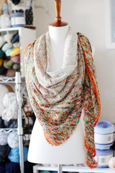 Flatiron Shawl Crochet Pdf Pattern Tl Yarn Crafts