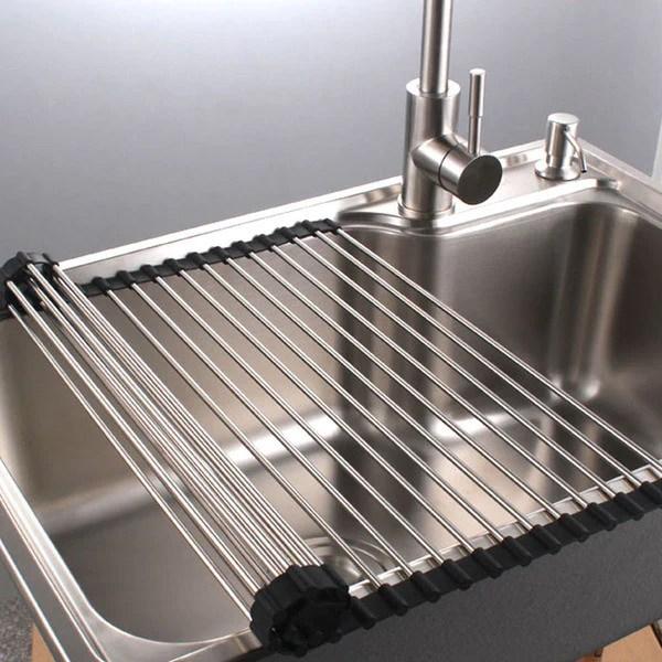 PremiumRacks Stainless Steel Over The Sink Dish Rack
