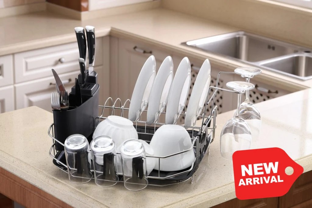 new premiumracks countertop dish rack perfect for smaller spaces wine glass holders modern design durable