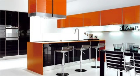 kitchen in orange