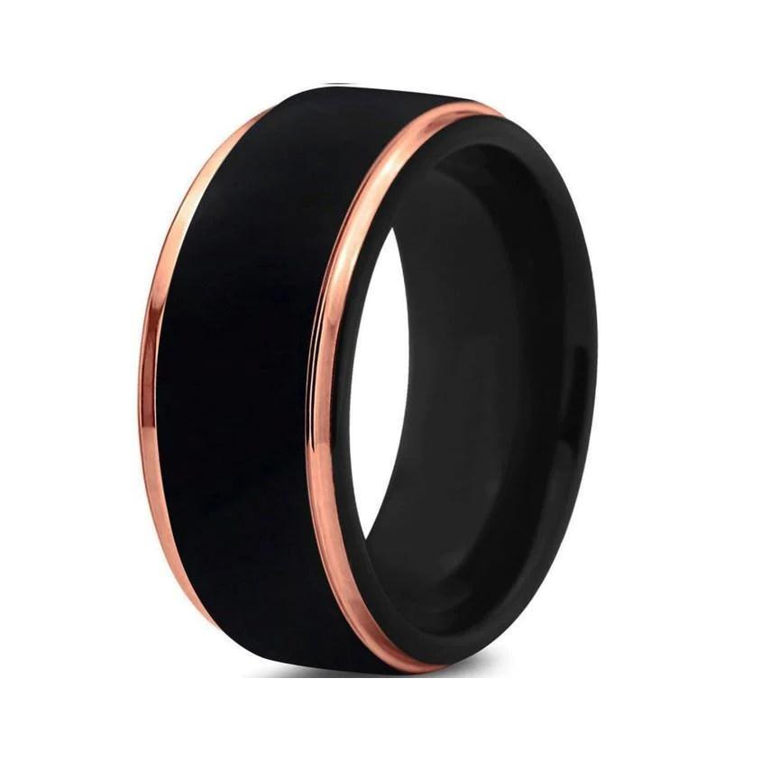 Black Rose Gold Tungsten Wedding Band Shop Jul Com Jul