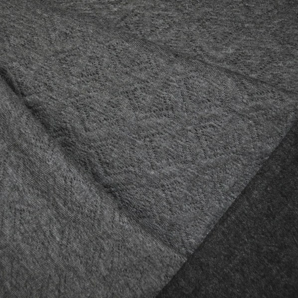 Reversible Quilted Geometric Knit Grey/Charcoal - Fabric - Style Maker Fabrics