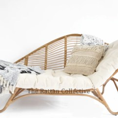 Hanging Chair Cane Curved Chaise Lounge Rattan Longue, Special Piece, One Only. The Collective Byron Bay
