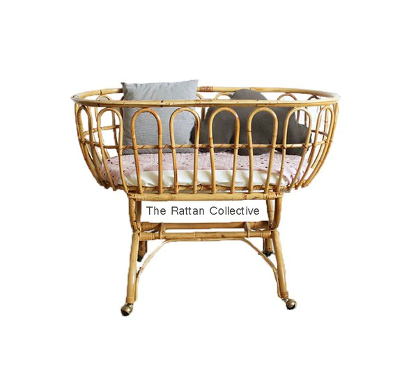 cane hanging chair new zealand reclining lift chairs rattan cots and bassinets beautiful pieces to create a stunning yami wicker baby bassinet byron bay folk the family love tree down