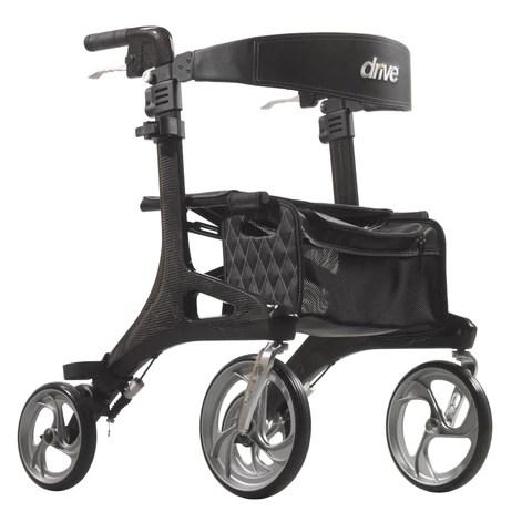 walker transport chair in one hugo navigator swivel malaysia side folding rolling sale drive medical nitro elite cf carbon fiber rollator