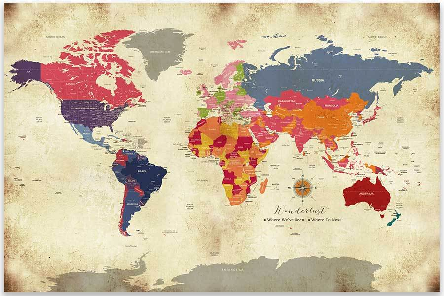 poster of world map