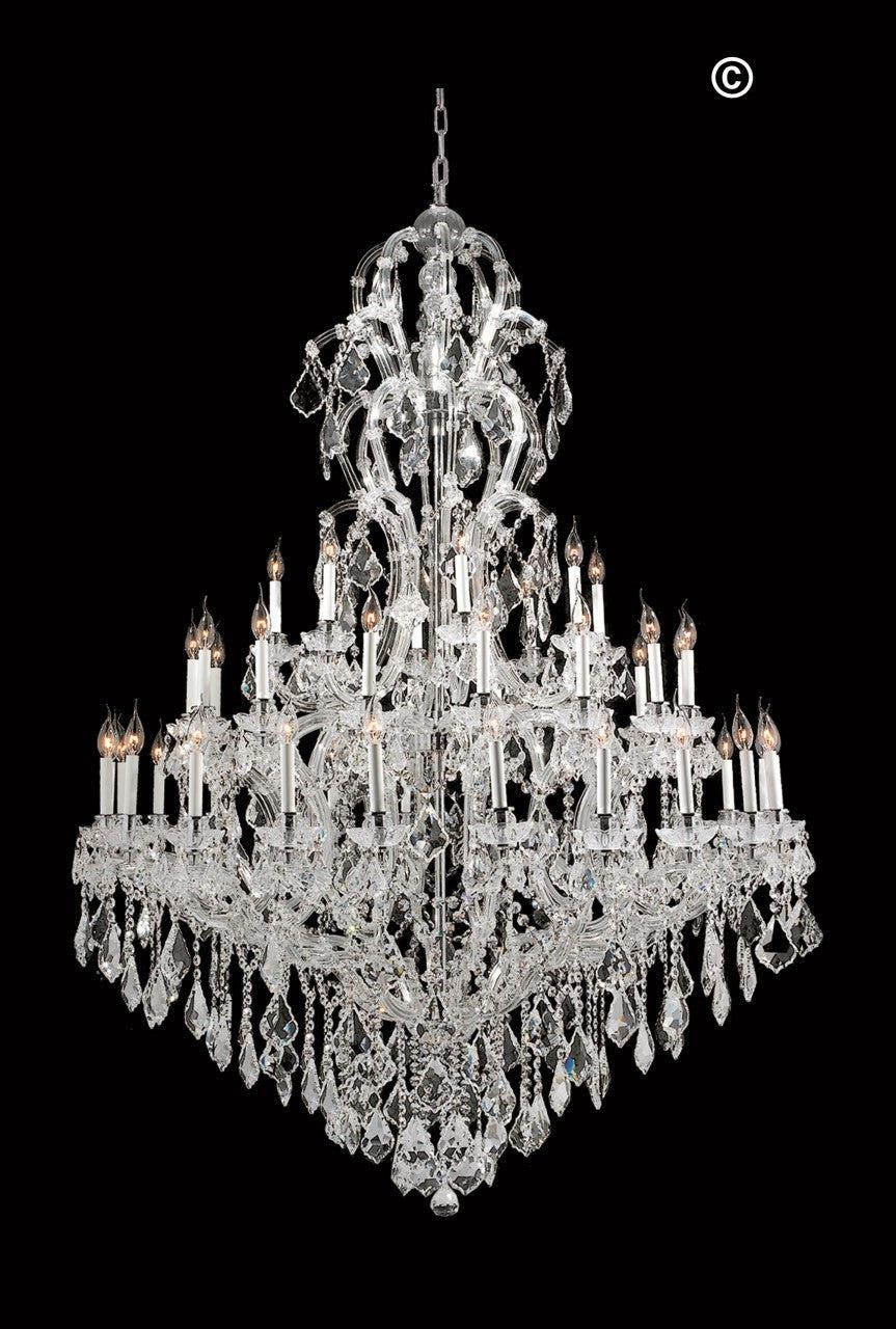 Maria Theresa Crystal Chandelier Royal 48 Light - CHROME ...