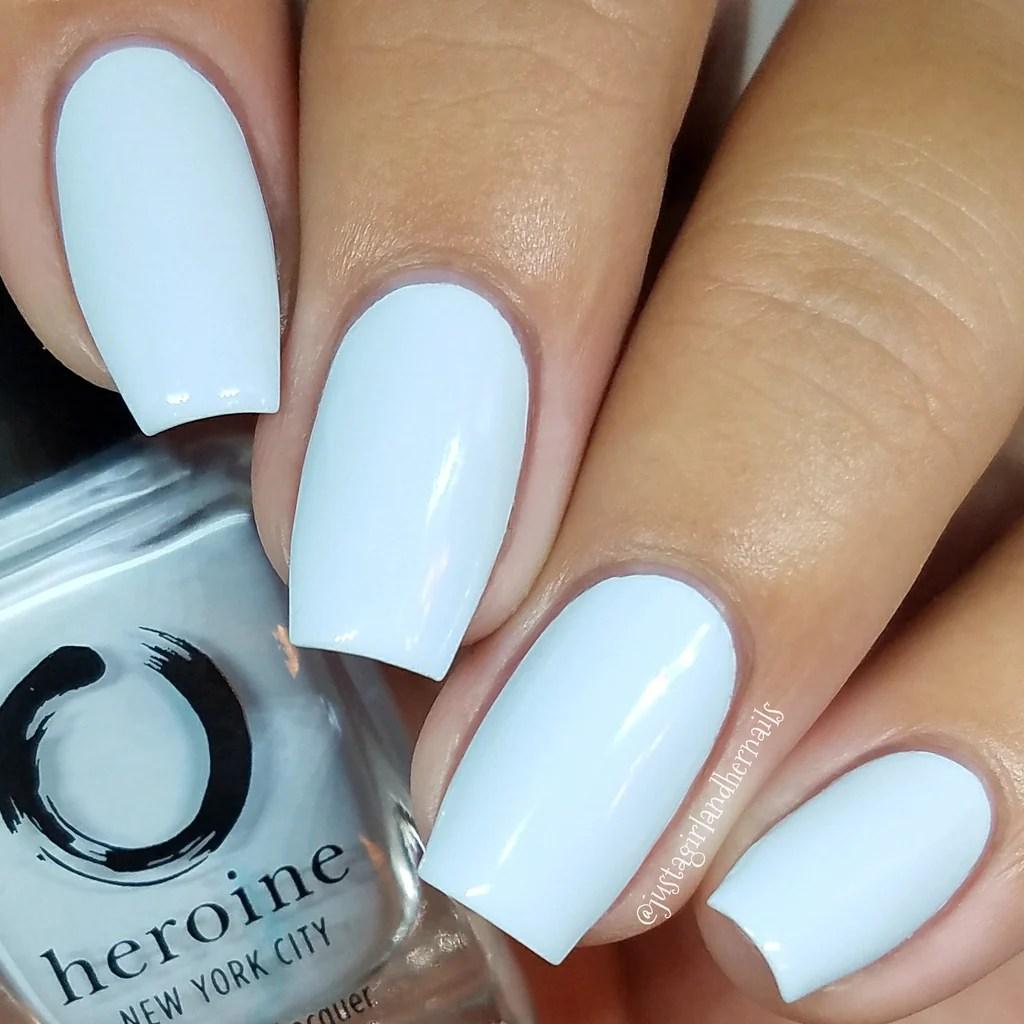 pastel blue nail polish peek-blue