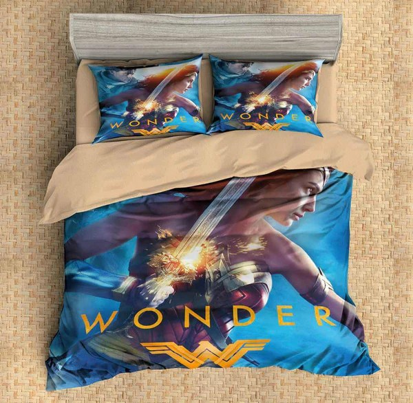 3D Customize Wonder Woman Bedding Set Duvet Cover Set