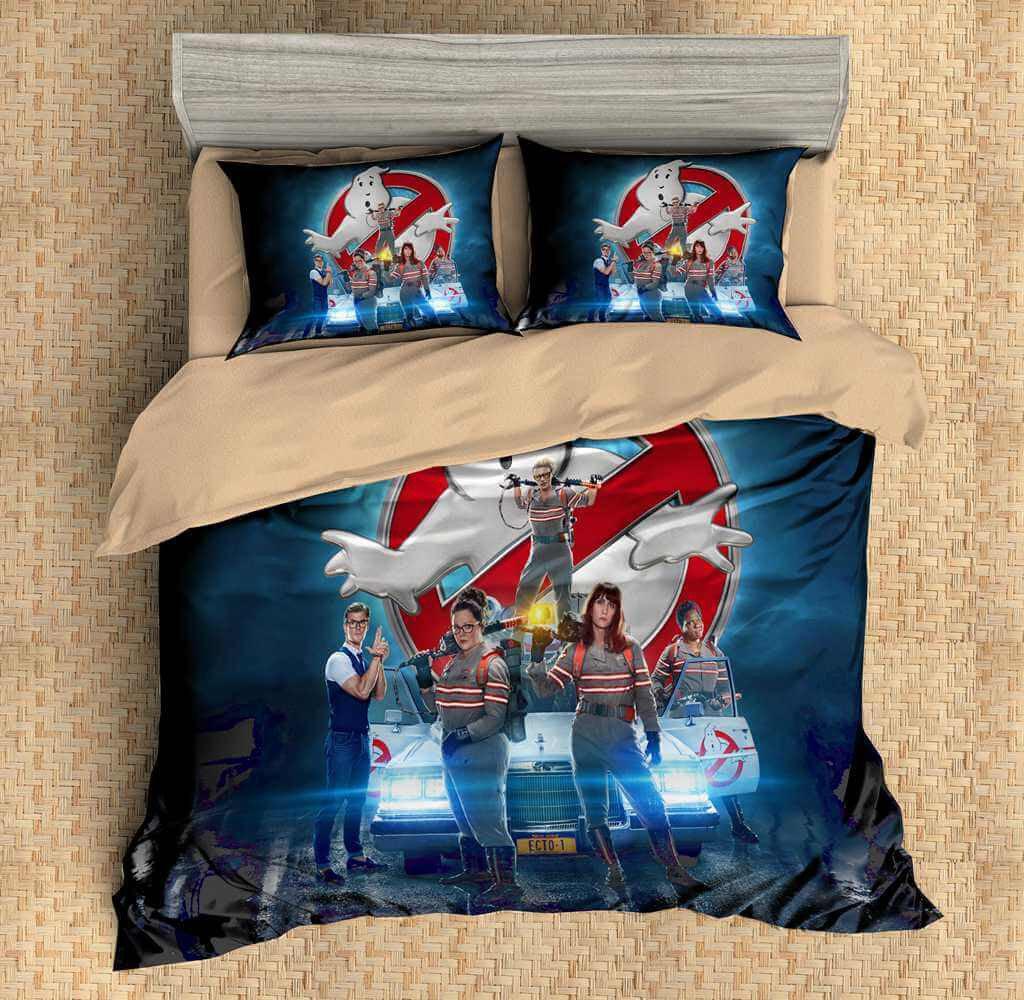 3D Customize Ghostbusters Bedding Set Duvet Cover Set Bedroom Set Bedl Three Lemons Hometextile