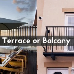 Teak Bar Table And Chairs Ikea Poang Chair What Is The Difference Between A Terrace & Balcony
