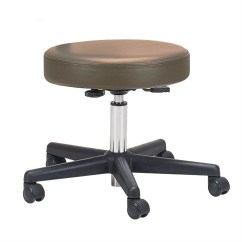 Rolling Stool Chair Tiger Print Adjustable Height Pneumatic With Brown Padded Seat By Ea