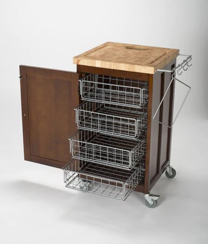 kitchen prep station free standing counter chris natural pantry fold up cart espresso your island