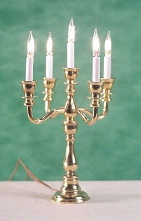 5 Light Georgian Candelabra Electric Dollhouse Junction