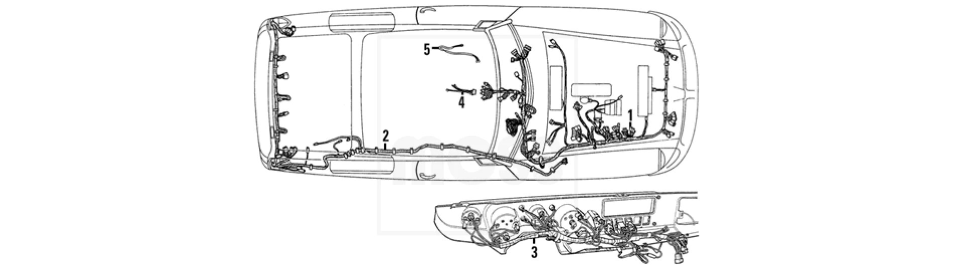 mgb c v8 electrical wiring looms fittings wiring harnesses mgb [ 1900 x 538 Pixel ]