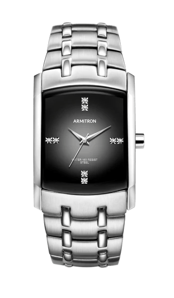 Image result for Stainless Steel Watch with Swarovski Crystal Accents and Grey Degrade Dial- 33MM